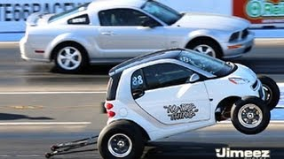 Download ″NU BIG THING″ SMART CAR 462ci BBC VS GT MUSTANG AT RT66 Video