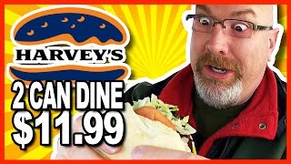 Download Harvey's 2 Can Dine for $11.99 Challenge and Review - 2600 CALORIES Video