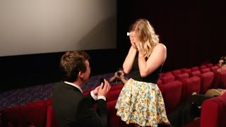 Download Aussie guy proposes to girlfriend in packed cinema. Best wedding proposal EVER! Video