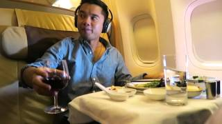 Download FLYING FIRST CLASS ON SINGAPORE AIRLINES TO SEOUL - Vlog 006 Video