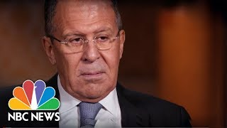 Download Russia's Foreign Minister Sergey Lavrov (Full Interview) | NBC News Video