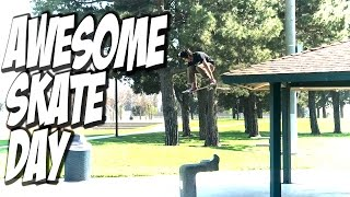Download AWESOME SKATE DAY !!! - A DAY WITH NKA - Video