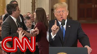 Download Trump clashes with Jim Acosta in testy exchange Video