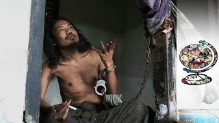 Download In Bali the Mentally Ill Are Treated Like Animals Video