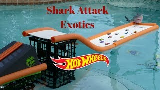 Download Hot Wheels exotics shark attack swimming pool tournament race Video