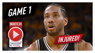 Download Kawhi Leonard Game 1 Highlights vs Warriors 2017 Playoffs WCF - 26 Pts, 8 Reb, INJURED AGAIN! Video
