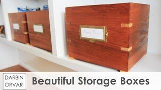 Download Vintage Style Storage Boxes w/ Splines Video