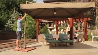 Download Vrienden Offset Cantilever Umbrella with Lights Video