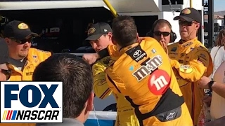 Download Kyle Busch Punches Joey Logano in Face | 2017 LAS VEGAS | FOX NASCAR Video