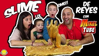 Download SLIME DE ORO DE REYES CON MIKELTUBE!! Hacemos Slime dorado! Making 1 Gallon of Golden King Slime Video