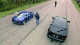 Download Audi R8 V10 vs Jeep SRT-8 vs Nissan GT-R Video