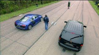 Download Audi R8 V10 vs Jeep SRT-8 vs Nissan GT-R Video