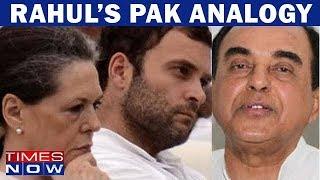 Download Subramanian Swamy On Rahul Gandhi's Pakistan Analogy Video