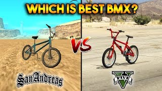 Download GTA 5 BMX VS GTA SAN ANDREAS BMX : WHICH IS BEST? Video