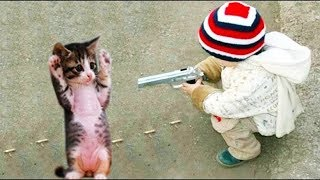 Download MOST Crazy Cats Annoying Babies, If You Laugh You Lose Challenge   BABY AND PET Video
