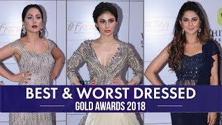 Download Hina Khan, Jennifer Winget, Divyanka Tripathi: Best and Worst Dressed from Gold Awards 2018 Video