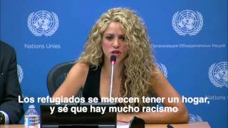 Download United Nations: Shakira's remarks about the refugee crisis in Syria Video