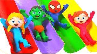 Download FUNNY KIDS FUNNY COLOR SLIDES ❤ Play Doh Cartoons For Kids Video