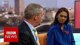 Download Nigel Farage to Gina Miller 'What part of leave don't you understand?' BBC News Video