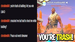 Download I put Twitch in my Fortnite name so people would come talk smack in my stream... (IT WORKED) Video