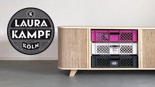 Download Minimalist Credenza with Plywood Tambour Doors Video