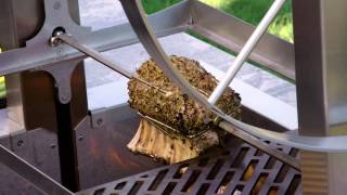 Download Rotisseried Pork on the Kalamazoo Gaucho Grill Video
