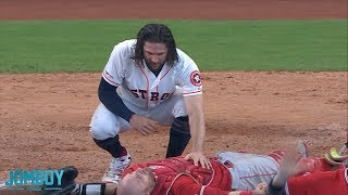 Download Marisnick collides with Lucroy at the plate, a breakdown Video