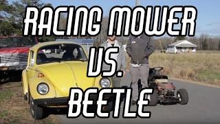 Download Rat Rod Lawn Mower vs. VW Beetle Drag Racing + Drifting Video