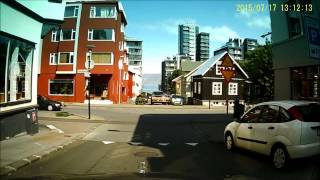 Download Downtown Reykjavik Summer 2015 Video