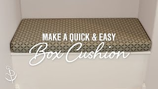 Download How To Make a Quick and Easy Box Cushion Video
