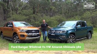 Download Ford Ranger Wildtrak bi turbo Vs Volkswagen Amarok V6 580 comparison review Video