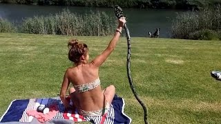 Download How Video of Sunbather Catching King Cobra Attacking Could Be Fake Video