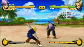 Download Dragon Ball Z Burst Limit - Trunks vs Android 18 Video