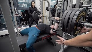 Download 385lb BENCH PR AT 17 YO | Racing Dave to 405lbs Video