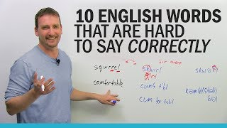 Download 10 English words that are hard to say correctly Video