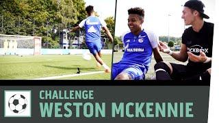 Download Zielschießen-Challenge vs. Weston McKennie |FC Schalke 04 | Fußball-Challenge | Kickbox Video