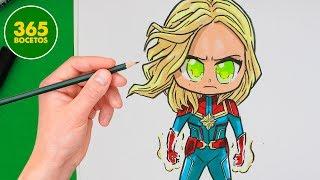 Download COMO DIBUJAR A CAPITANA MARVEL CHIBI - Como dibujar a Capitana Marvel facil Video