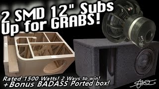 Download 2 SMD ″Mini″ 12″ Subwoofers Up for Grabs! 2 Ways 2 win (Local, Internet) +Bonus BADASS Ported Box! Video