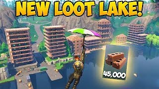 Download TURNING LOOT LAKE INTO A CITY! (45,000 Brick) - Fortnite Funny Fails and WTF Moments! #279 Video