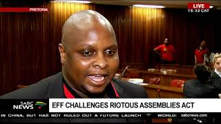 Download Floyd Shivambu briefs the media on following Malema's court appearence Video