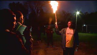 Download East High School celebrates successful football season with community bonfire Video