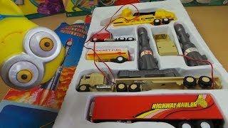 Download Rocket Control Center Vintage Semi Trailer Truck Toy Set Video