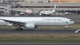 Download Cathay Pacific Boeing 777-300ER B-KPM Takeoff from HND 16R Video
