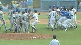 Download Pedro Guerrero hurls bat near Cone, benches empty Video