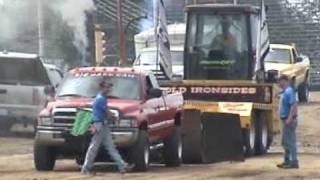 Download DODGE CUMMINS DESTROYS FRAME @ DIESEL TRUCK PULL Video