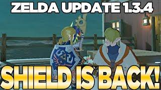 Download Zelda Update 1.3.4... THE HYLIAN SHIELD IS BACK! Breath of the Wild | Austin John Plays Video