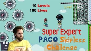 Download 10 Difficult Levels / 100 Lives | Super Mario Maker (LIVE STREAM) Video