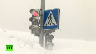 Download Spring Cleaning video: Snow chaos in Russia, Ukraine Video