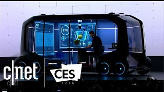 Download Toyota reveals e-Palette, a multifunctional, moving city at CES 2018 Video
