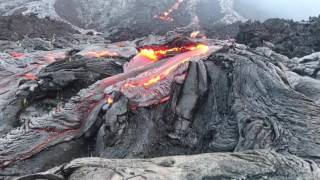 Download Timelapse Footage Shows Lava Flow From Kilauea Volcano Video